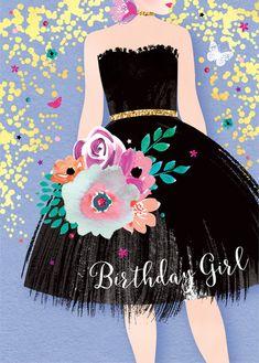 64 Super Ideas For Birthday Ilustration Girl Pictures Happy Birthday Wishes Cards, Happy Birthday Girls, Happy Birthday Pictures, Birthday Blessings, Happy Birthday Quotes, Birthday Fun, Happy Birthdays, Sister Birthday, Birthday Clipart