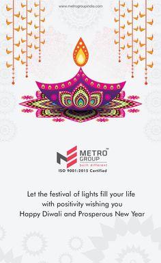 Metro Group wishes you Happy Diwali & prosperous New Year.  www.metrogroupindia.com  #Diwali #NewYear #Celebration #Festival #Lights #Occasion #Residential #RealEstate