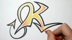 How to Draw Graffiti Letters - K