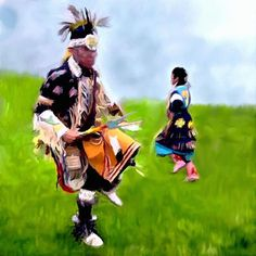 A Ceremonial dance..Work delightfully done by Bob Johnston! ©