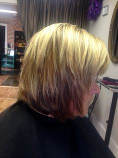 Layers added to this medium just below the chin length Bob! Chin Length Cuts, Chin Length Hair, Hair Lengths, Blonde Hair, Layers, Medium, Beauty, Color, Modern