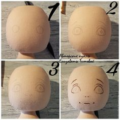 Sewing a Fabric Doll on Your Own – a free tutorial on the topic: Dolls ✓DIY ✓Steps-By-Step ✓With photos Doll Face Paint, Doll Painting, Fabric Doll Pattern, Doll Patterns, Doll Tutorial, Fairy Dolls, Stuffed Animal Patterns, Soft Dolls, Soft Sculpture