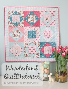 Square in Square Mini Quilt Tutorial by Amy Smart of Diary of a Quilter