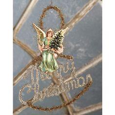 Merry Christmas Angel Scrap Ornament