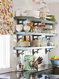 inspiracje w moim mieszkaniu: Kuchnia z otwartymi półkami/ Kitchen with open shelves