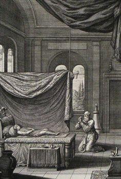 154. Elisha raises the Shunamite woman's child. 2 Kings cap 4 v 33. Thelot