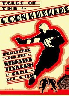 1930 Game Program for the Nebraska vs Texas A&M game on 10/04/30