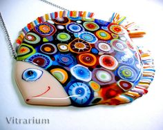 """Fused Glass Wall Art, Home Decor, Abstract Fused Glass Art Panel, Colorful artwork """"Cosmic Fish"""" Broken Glass Art, Sea Glass Art, Glass Wall Art, Stained Glass Art, Fused Glass, Shattered Glass, L'art Du Vitrail, Glass Art Design, Glass Fusing Projects"""