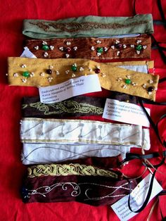 Embroidered/Embellished Headbands from the Dirty Dozen Donation Derby - By Lady Kaisa Haapala