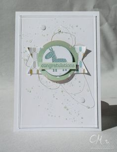 A Stampin' Up! Baby Shower Cards, Baby Cards, Beautiful Handmade Cards, Baby Boy Or Girl, Baby Kind, Stamping Up, Kids Cards, Congratulations, Projects To Try