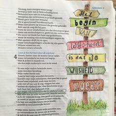 Spreuken 4:7. Bijbeljournaling Biblejournaling Mehr