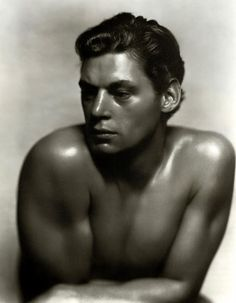 Tarzan - Johnny Weissmuller, 1930s, photo by George Hurrell