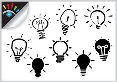 Idee icoon. Iconen worden in het dagelijks leven veel gebruikt. Deze soort iconen zijn kraakhelder, iconen hebben dan ook zeker een meerwaarde, ze nemen relatief weinig ruimte in en worden door het brein sneller verwerkt dan tekstuele informatie.