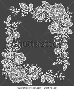Lace Corner - stock vector