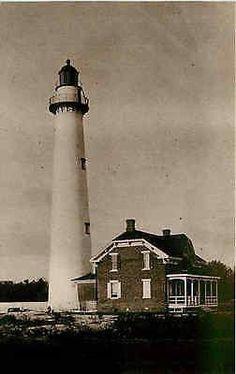 St Simon Island Georgia GA Circa 1885 St Simon Lighthouse Vintage Postcard