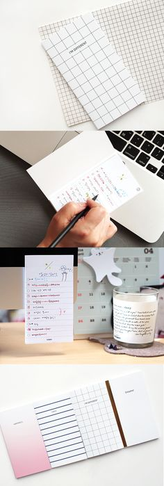 A very cute and very portable sticky note set. Now you can write and keep track of all your checklists and to dos wherever you are! Cool Stationary, Cute Office Supplies, Paper Supplies, Too Cool For School, Study Notes, Paper Goods, Planer, Diy Journaling, Track