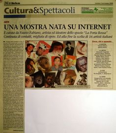 Articolo da Il Biellese sulla collettiva Human Nature 2008