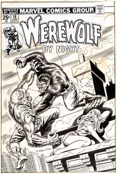 Original Comic Art:Covers, Ron Wilson and Frank Giacoia Werewolf By Nig... Image #1