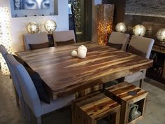 Must go to artemano- Anand table in rosewood ! The vibe that I want At Home Furniture Store, Deco Furniture, Kitchen Dinning Room, Global Home, Decoration, Sweet Home, New Homes, Interior Design, Dining Tables