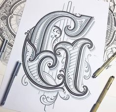 Letter G is coming to finishing lines #handlettering #lettering #typography #drawing #graphicdesign #customlettering #goodtype…