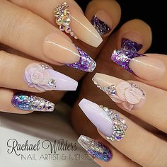 : Picture and Nail Design by •• @rachaelwilders •• Follow @rachaelwilders for more gorgeous nail art designs!