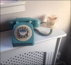 NEW LOVE! Retro 1960s French Blue Phone.
