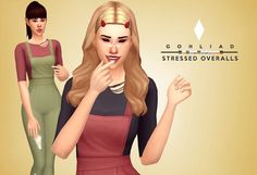 Sims 4 CC's - The Best: STRESSED OVERALLS by Gohliad