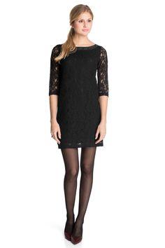 Esprit : Vestido semitransparente + encaje delicado en la Online-Shop
