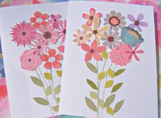 Floral Birthday Cards, 2 Botanical Birthday Cards, Wishing You a Happy Birthday, Female Birthday Car Note Cards, Thank You Cards, Baby Gift Wrapping, Girl Birthday, Happy Birthday, Pineapple Gifts, Cocktail Gifts, Teacher Cards, Birthday Cards For Women