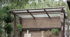 Pieni kesäkeittiö puutarhan nurkassa Gardening, Kitchen, Table, Outdoor, Outdoors, Cooking, Lawn And Garden, Kitchens, Tables
