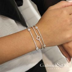 Staying social with Gabriel & Co. Check out whats new on Gabriel & Co's social. Learn more about finding the perfect ring at Gabriel & Co. 925 Silver Bracelet, Diamond Bracelets, Crystal Necklace, Diamond Jewelry, Beaded Bracelets, Bangles, Gems Jewelry, Body Jewelry, Jewelry Accessories