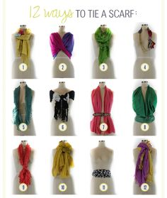 Different ways to tie a scarf