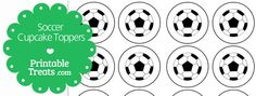 Get these fun free printable soccer cupcake toppers for your soccer themed cupcakes. These soccer cupcake toppers are simple and just feature a black and white soccer ball on a round 2 inch Soccer Cupcakes, Themed Cupcakes, End Of Year Party, Party Time, Soccer Theme, Soccer Practice, Cupcake Toppers, Free Printables, Letters