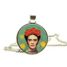 Hey, I found this really awesome Etsy listing at https://www.etsy.com/listing/233696609/frida-kahlo-necklace-frida-kahlo-pendant