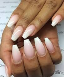 Image result for acrylic nude to white ombre nails