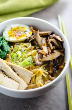 If you've been looking for an easy vegetarian ramen recipe with rich, savory, satisfying broth, look no further. This is it. Make-ahead + vegan options.