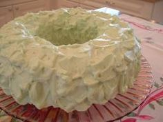 Mom's awesome pistachio cake!!!  Pistachio cake recipe  1 white cake mix  1 instant pistachio pudding mix 3/4 cup oil & water 2 teaspoon almond extract Mix till all is moist  4 eggs one at a time  beating after each  Then cream for 5 minutes on high speed Put in greased & floured bundt pan. Bake at 350 for 45 to 50 minutes or till toothpick comes out clean  Frost with cream cheese frosting