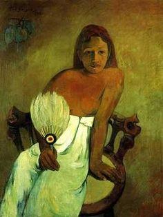 Gauguin - Jeune femme à l'éventail