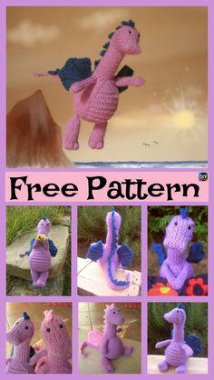 Adrorable Knit Gentle Dragon – Free Pattern #freeknittingpattern #toys #dragon
