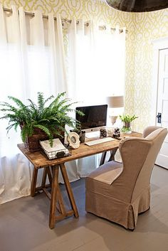 inspiring work desk---reminds me of mama