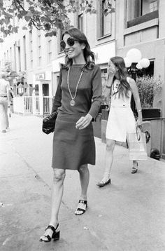 Lee Radziwill, sometime in the 1970s.  Love the shoes