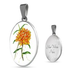 Blooming Bling Florida Orchids Necklace