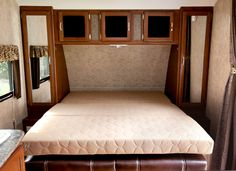 murphy bed in camper in sofa position   trailer   Pinterest ...