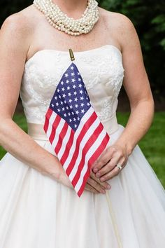 Hostess with the Mostess® - 1940's Patriotic Backyard Americana Wedding Inspiration