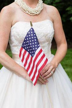 Hostess with the Mostess® - 1940's Patriotic Backyard Americana Wedding Inspiration