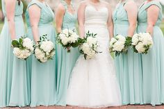 Mint green bridesmai