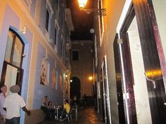Nuyorican Cafe - Callejón de La Iglesia.   Live Salsa music.  Difficult to find.  Try to locate by day while touring Old San Juan.