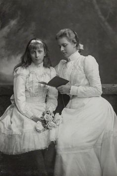 Princess Louise of Battenberg then Queen of Sweden and sister Alice of Battenberg then Princess of Greece