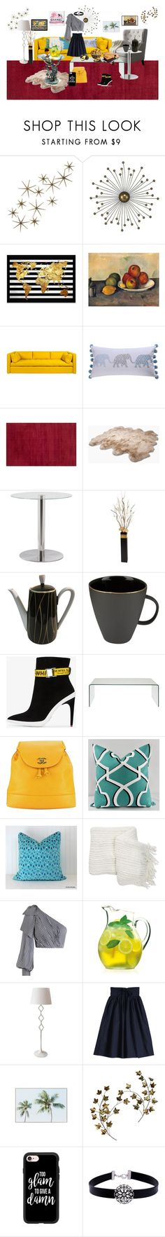 """""""Breakfast"""" by vanyaraina on Polyvore featuring Global Views, Wrong London, UGG Australia, GREEN, Canvas Home, Off-White, Chanel, Nordstrom Rack, Zimmermann and Luigi Bormioli"""