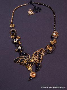 Veta's Art with Beads: Shadows of Moths / Тени бабочек